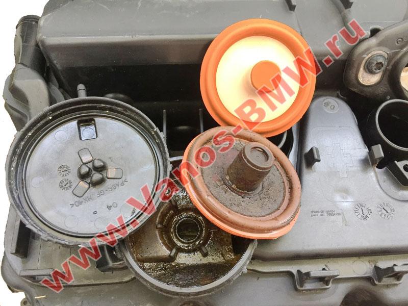 Мембрана КВКГ двигатель N51, N52, N52N, N52K (клапан встроен в крышку двигателя) 11127552281 BMW  N52-015
