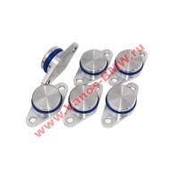 Заглушки вихревых заслонок BMW (комплект 6 шт - 22 мм (алюминий)